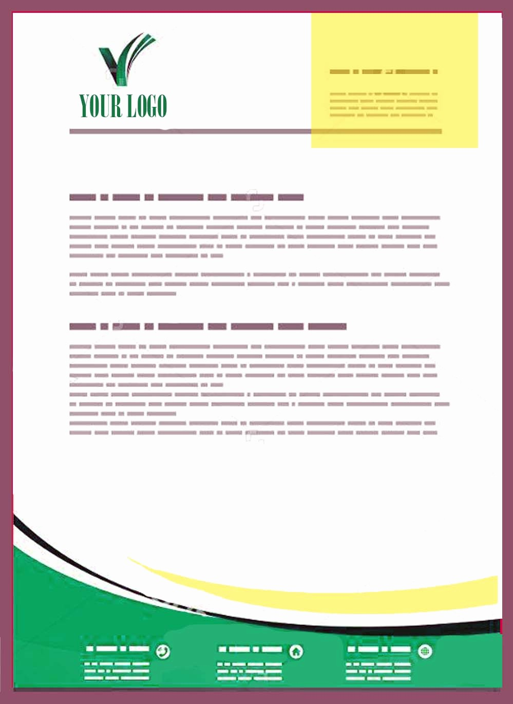Sample Business Letter with Logo Beautiful Pany Letterhead Templates Doc