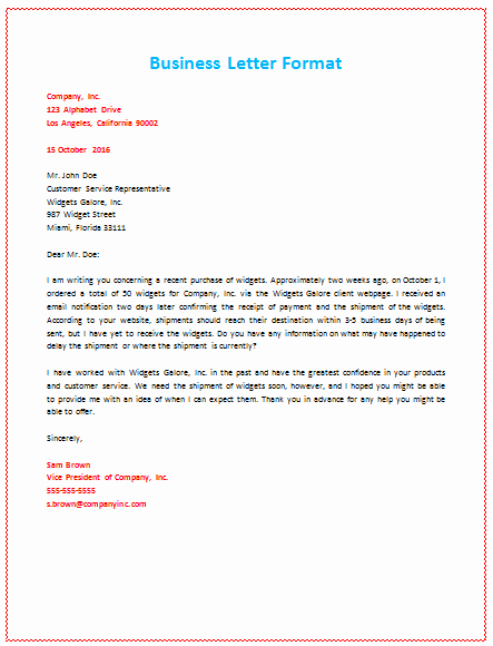 Sample Business Letter with Logo Best Of 6 Samples Of Business Letter format to Write A Perfect Letter