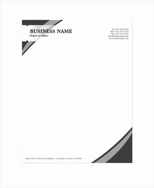Sample Business Letter with Logo Lovely 37 Professional Letterhead Templates Free Word Psd Ai