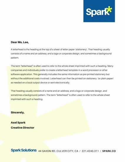Sample Business Letter with Logo New Customize 178 Business Letterhead Templates Online Canva