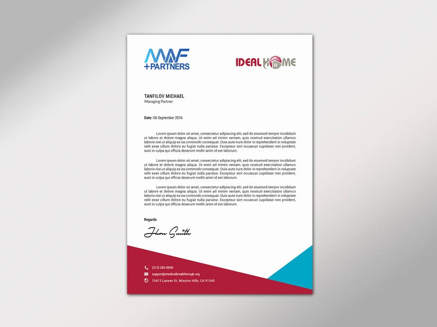 Sample Business Letterhead with Logo Awesome Design Joint Venture Letterhead Of 2 Panies 2 Logos In