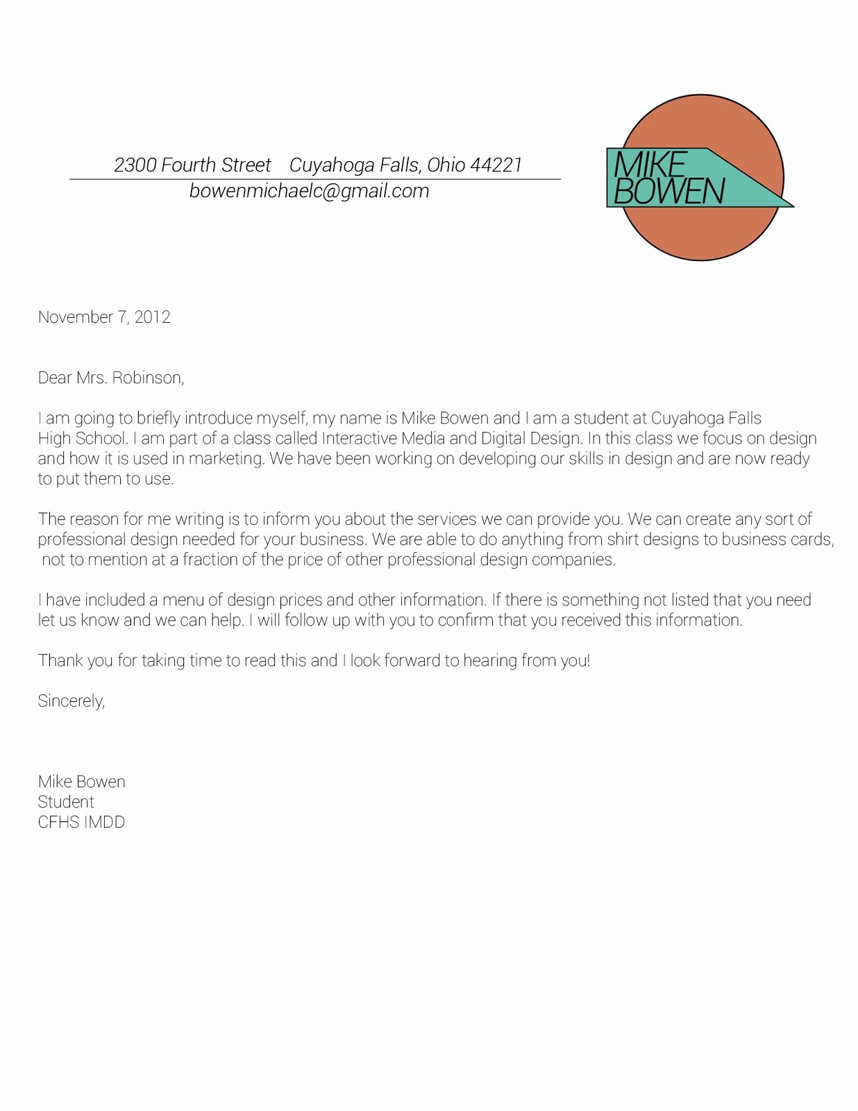 Sample Business Letterhead with Logo Awesome Grizz Marketing