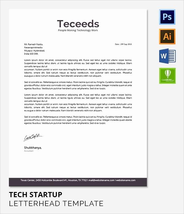sample pany letterhead letter