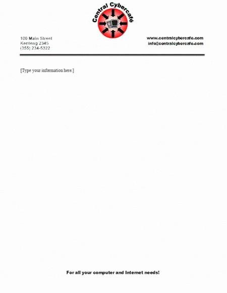 Sample Business Letterhead with Logo Elegant Business Letterhead Templates with Logo