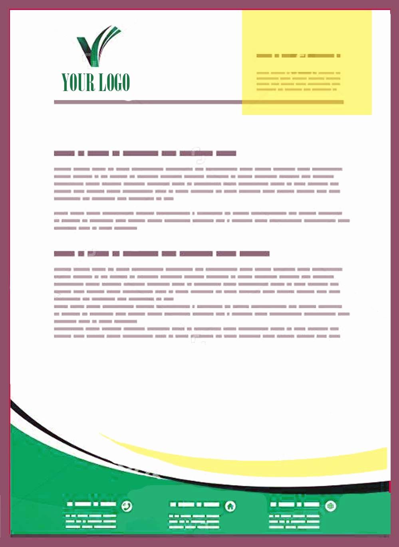 Sample Business Letterhead with Logo Elegant Pany Letterhead Templates Doc
