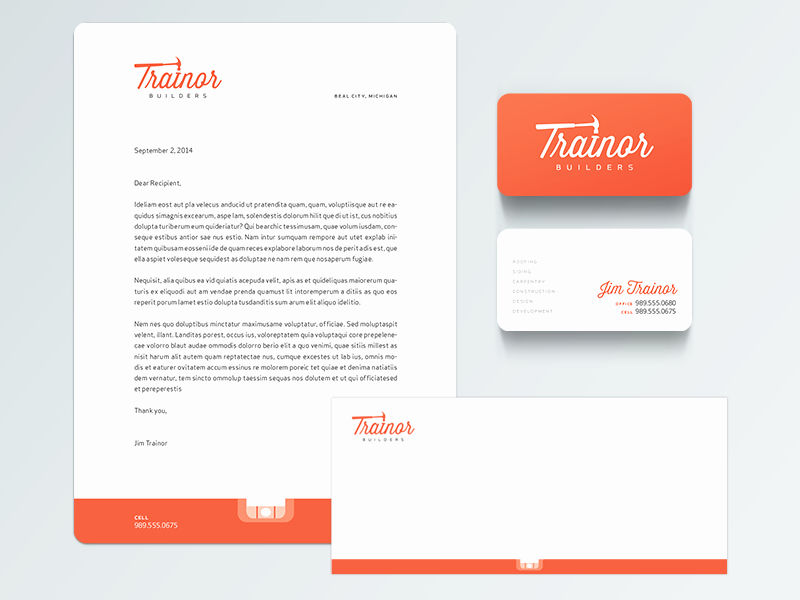 Sample Business Letterhead with Logo Fresh Construction Pany Stationery by Mark Gerlach Dribbble