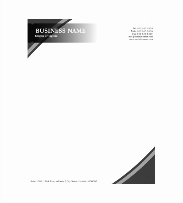 Sample Business Letterhead with Logo Inspirational 10 Construction Pany Letterhead Templates Free