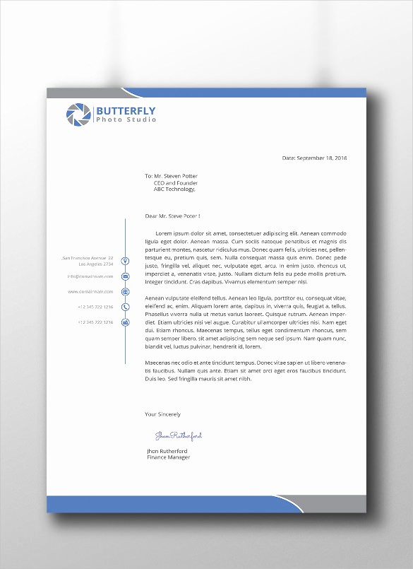 Sample Business Letterhead with Logo Unique 37 Professional Letterhead Templates Free Word Psd Ai