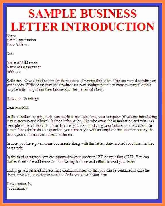 Sample Business Letters to Customers New 7 Pany Business Introduction Letter Sample