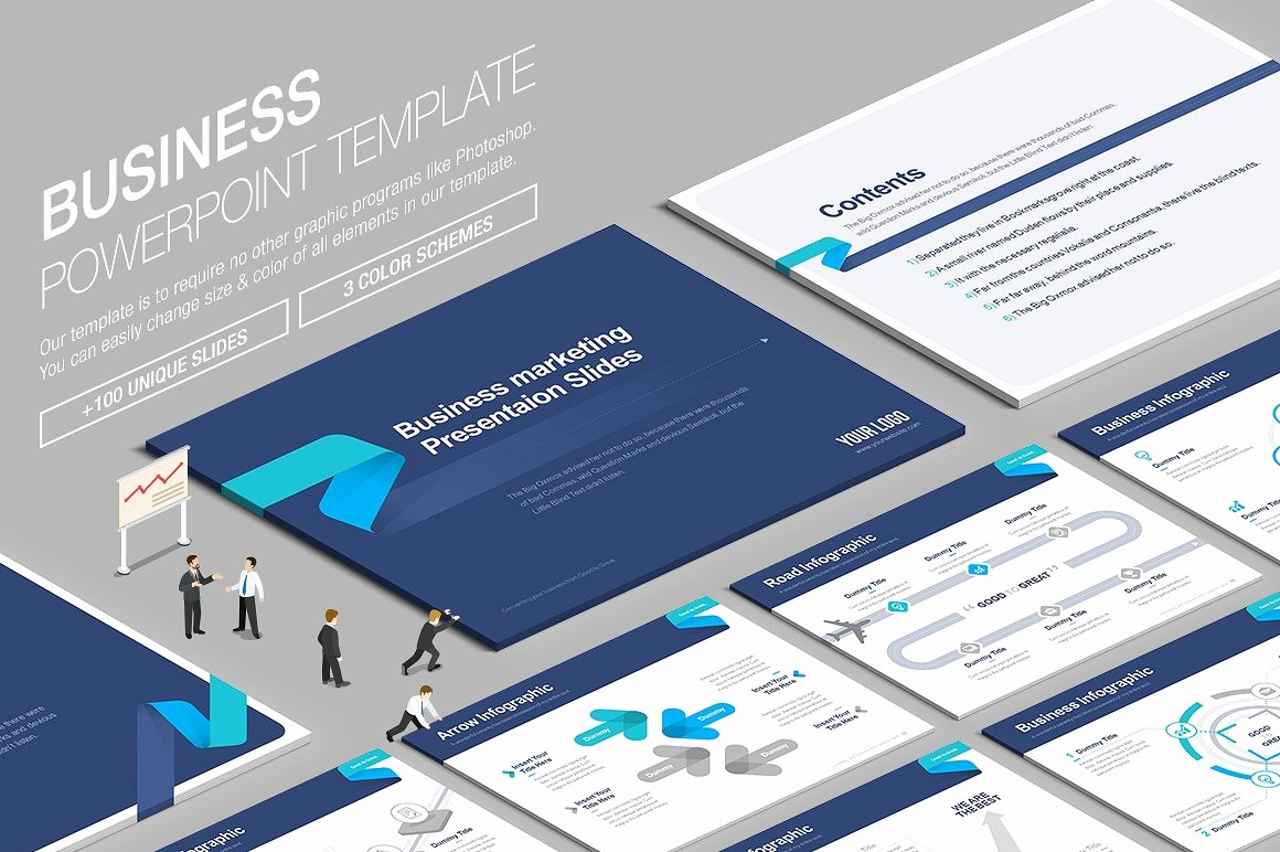Sample Business Plan Presentation Ppt Awesome Business Powerpoint Template Vol 6 Presentation