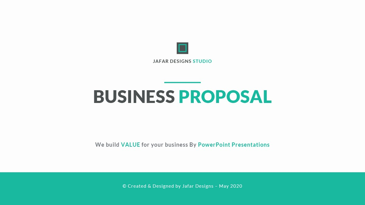 Sample Business Plan Presentation Ppt Fresh Business Proposal Powerpoint Template by Jafardesigns