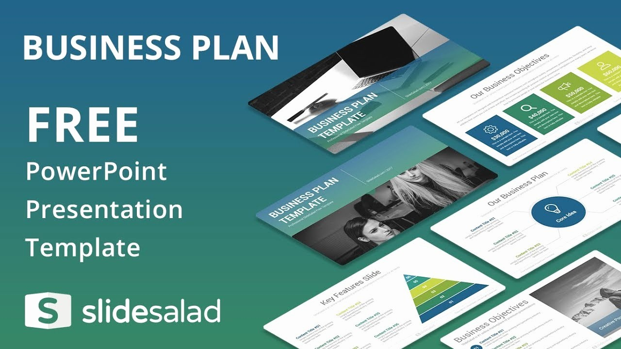 Sample Business Plan Presentation Ppt Luxury Business Plan Free Powerpoint Template Design Slidesalad