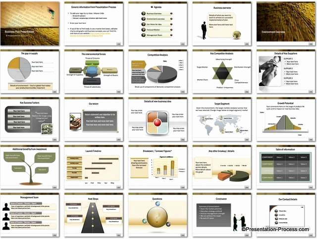 Sample Business Plan Presentation Ppt Luxury Business Plan Powerpoint Template Set