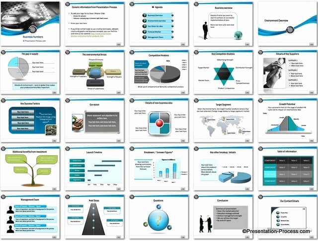 Sample Business Plan Presentation Ppt New Business Numbers Powerpoint Template