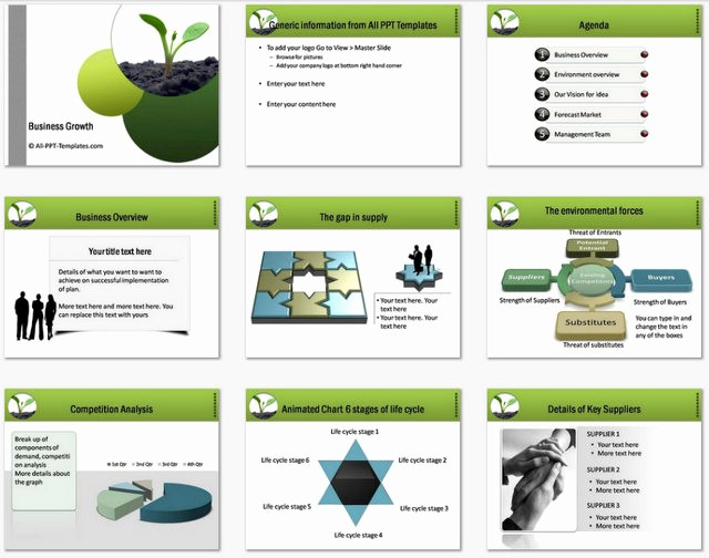 Sample Business Plan Presentation Ppt New Powerpoint Business Plan Growth Template