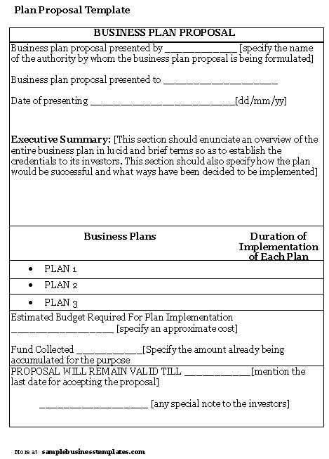 Sample Business Plan Templates Free Awesome Business Proposal Templates Examples
