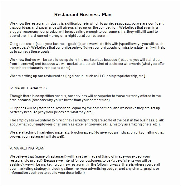 Sample Business Plan Templates Free Best Of 13 Sample Restaurant Business Plan Templates to Download