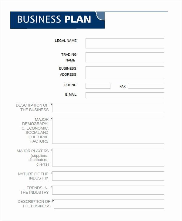 Sample Business Plan Templates Free Elegant Business Plan Template In Word 10 Free Sample Example