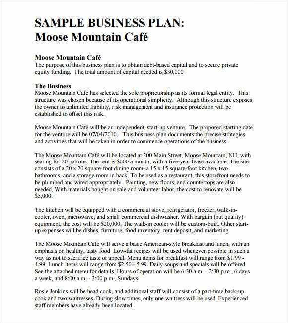 Sample Business Plan Templates Free Lovely 8 Free Business Plan Templates Download Free Documents