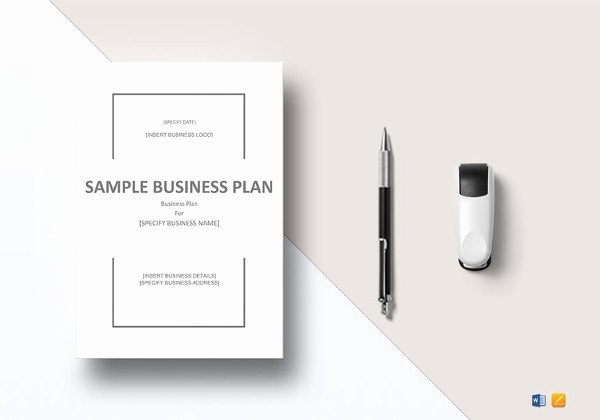 Sample Business Plan Templates Free New E Page Business Plan Template 14 Free Word Pdf