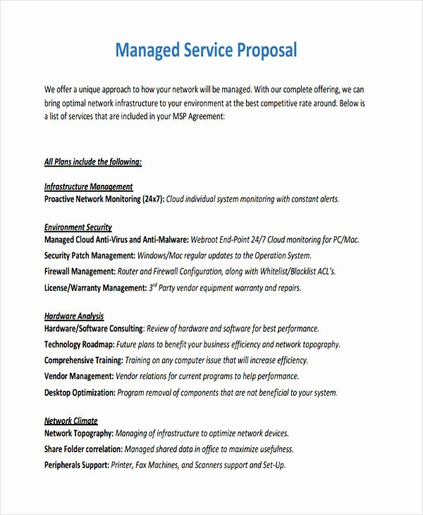 Sample Business Proposal for Services Awesome 14 Service Proposal Examples Pdf Word Pages