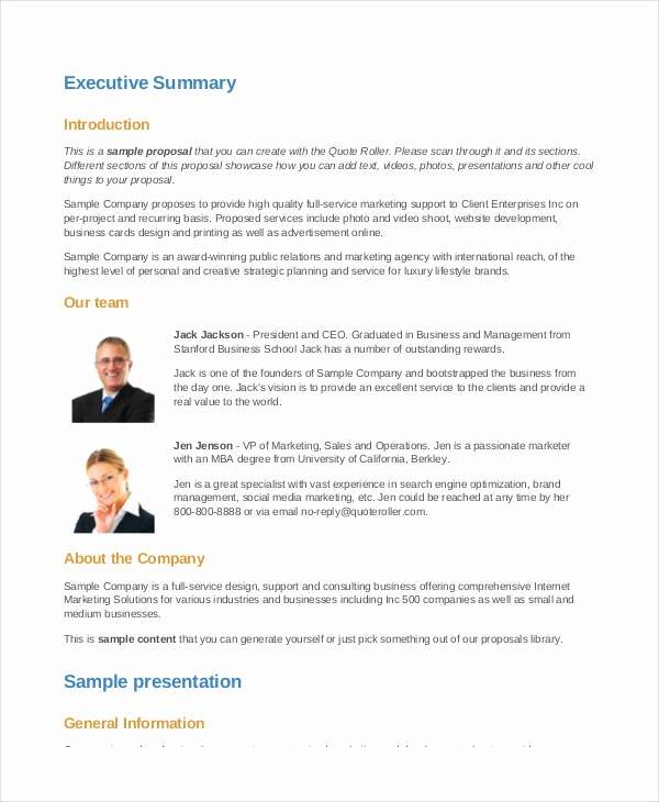 Sample Business Proposal for Services Awesome 50 Business Proposal Examples & Samples Pdf Doc