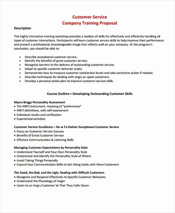Sample Business Proposal for Services Elegant 8 Customer Service Proposal Templates Free Sample