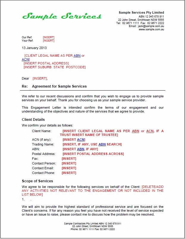 Sample Business Proposal for Services Fresh New Tradesafe Contracts Documentation Overview & Samples