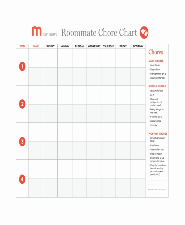 Sample Chore Charts for Families Beautiful 19 Sample Chore Charts