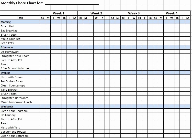 Sample Chore Charts for Families Elegant 12 Free Sample Family Chore List Templates Printable Samples