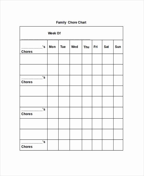 Sample Chore Charts for Families Elegant 19 Sample Chore Charts