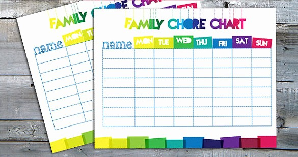 Sample Chore Charts for Families Fresh Family Chore Chart Template – 13 Free Sample Example