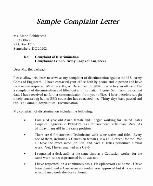 Sample Complaint Letters to Airlines Awesome 7 Sample formal Plaint Letters