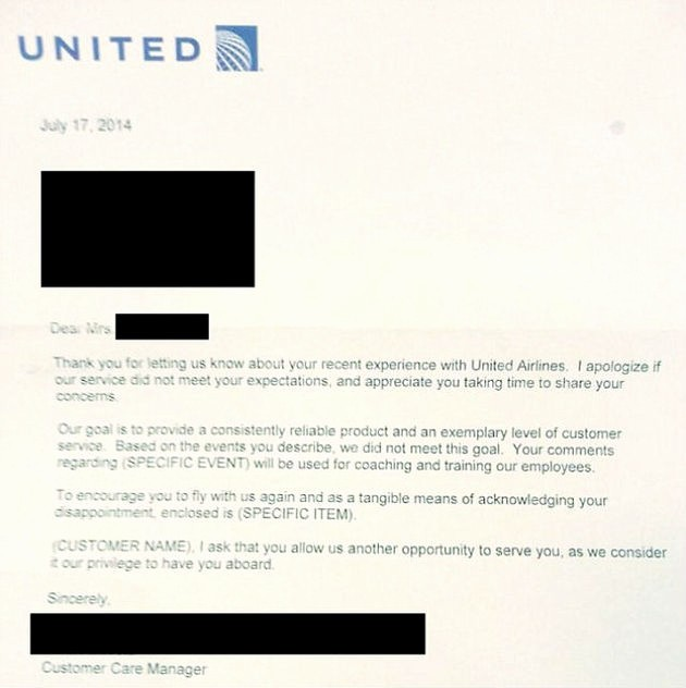 Sample Complaint Letters to Airlines Luxury Airline Sends Customer A Template Apology Letter without