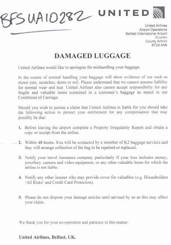 Sample Complaint Letters to Airlines Luxury Sample Plaint Letter to United Airlines