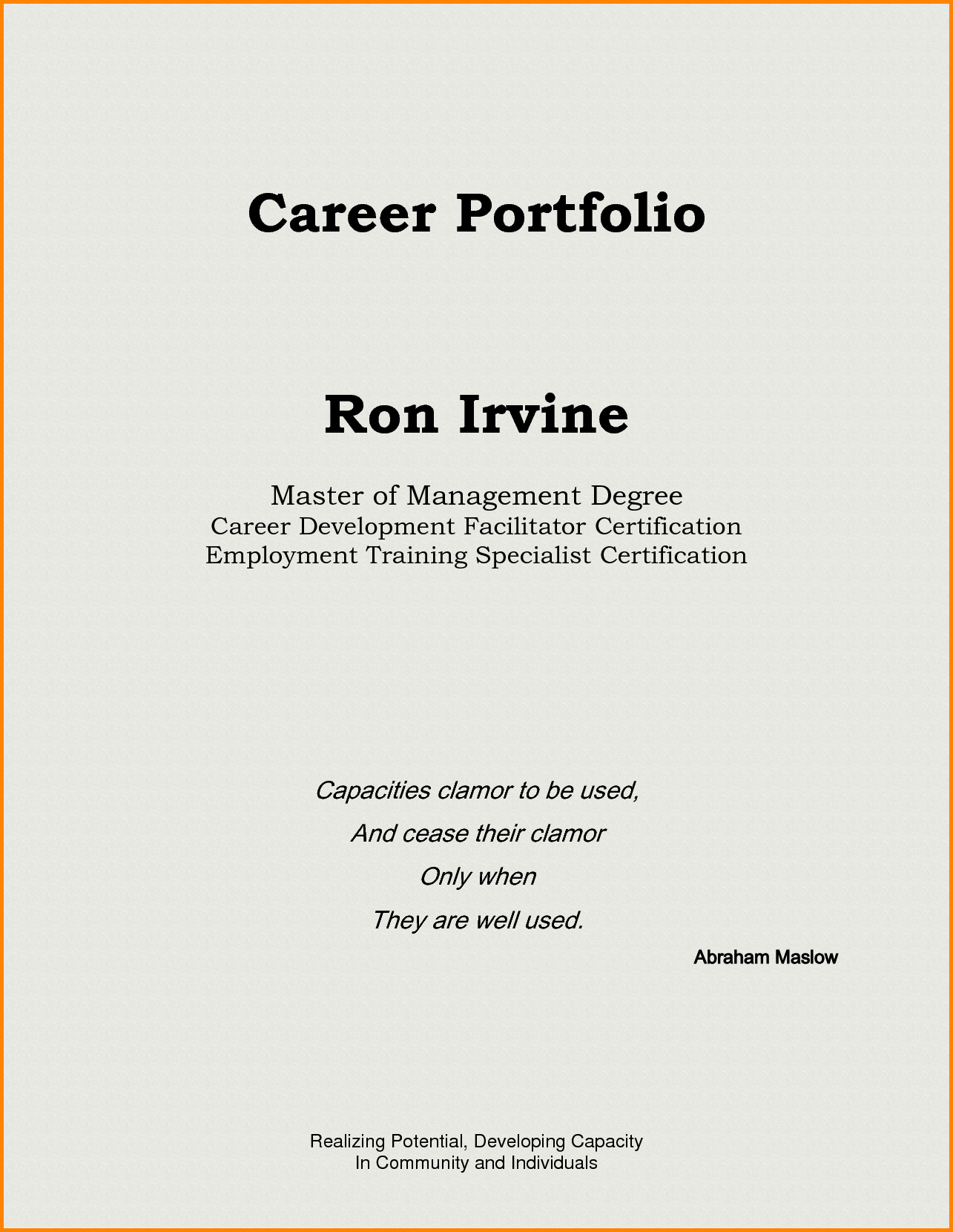 Sample Cover Page for Resume Awesome Resume Portfolio Cover Page Examples Bongdaao