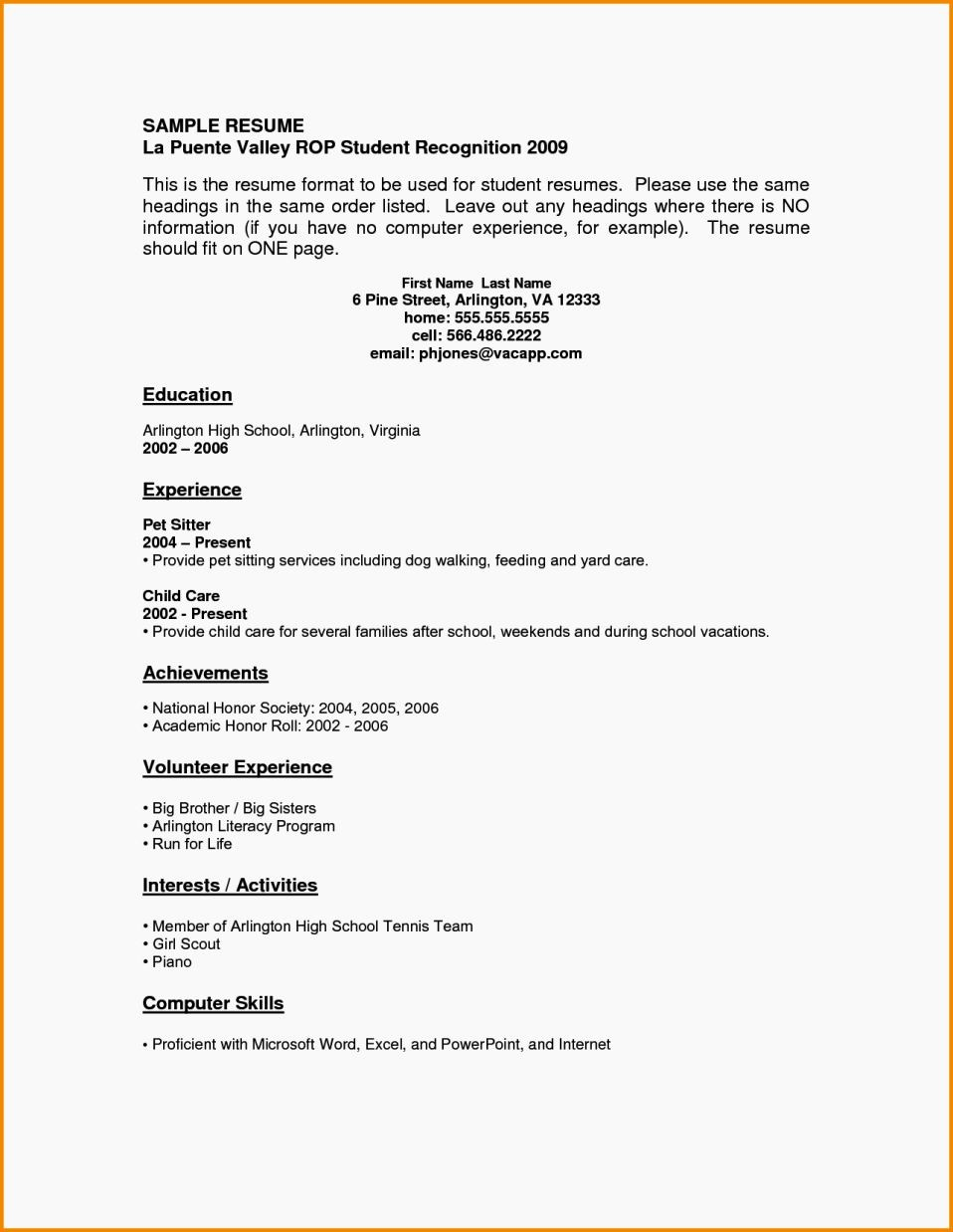 Sample Cover Page for Resume Beautiful 16 Year Old Resume Sample Resume Template