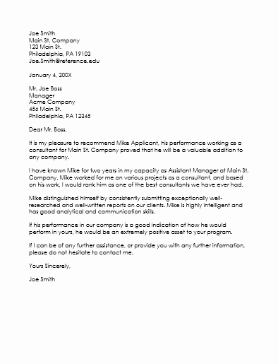 Sample Employment Letters Of Recommendation Fresh Employee Reference Letter Template 5 Samples that Works