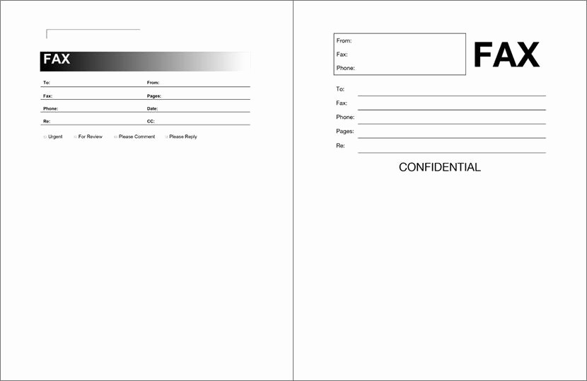 Sample Fax Cover Sheet Word Elegant Free Fax Cover Sheet Template format Example Pdf Printable