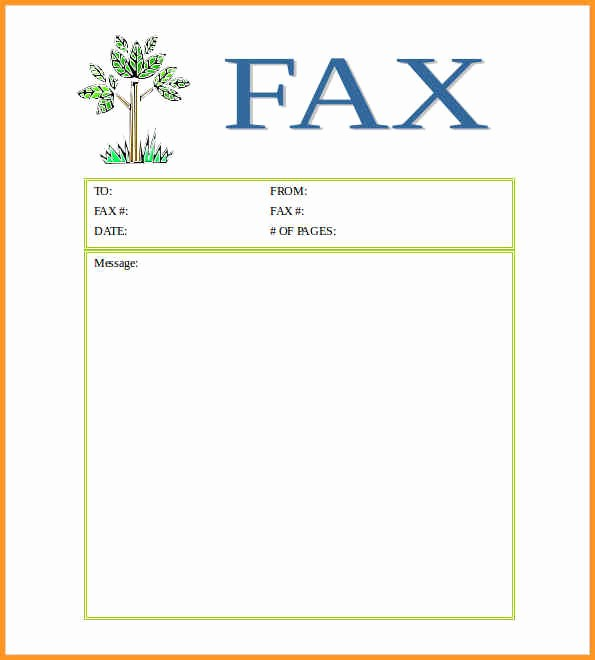 Sample Fax Cover Sheet Word Fresh [free] Fax Cover Sheet Template