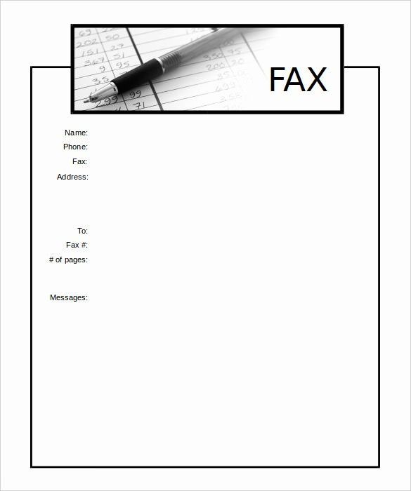 Sample Fax Cover Sheet Word Luxury 13 Printable Fax Cover Sheet Templates – Free Sample