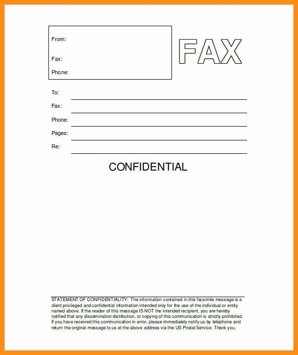 Sample Fax Cover Sheet Word Luxury 6 Free Fax Cover Sheet Template Word