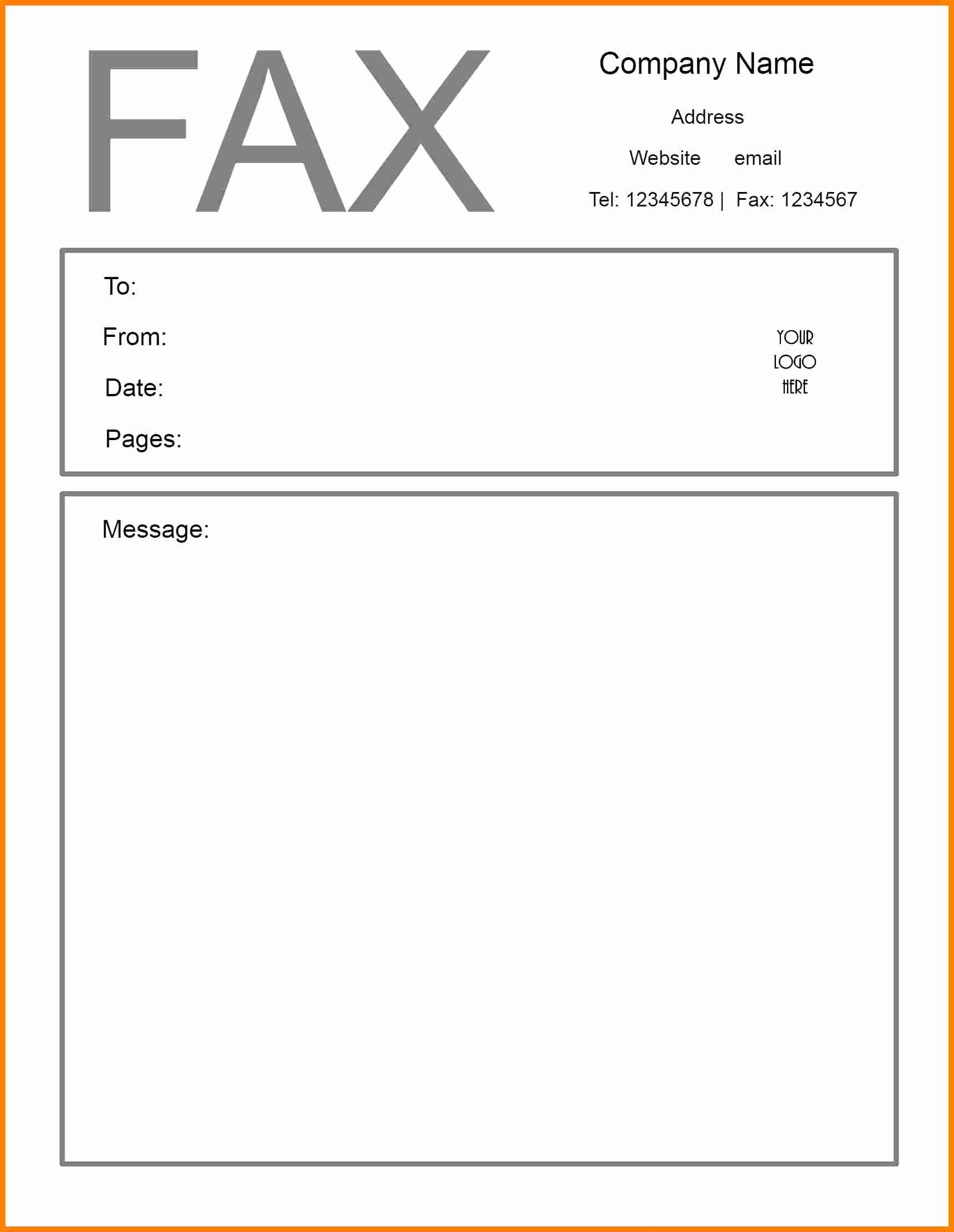 Sample Fax Cover Sheets Template Best Of Get Professional Personal Printable Free Fax Cover Sheet