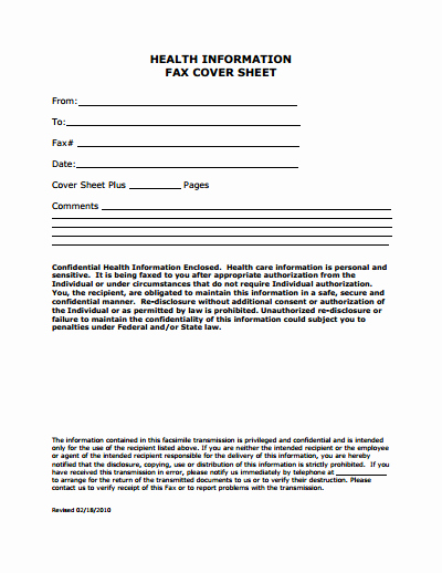 Sample Fax Cover Sheets Template Fresh Medical Fax Cover Sheet Template Free Download Create