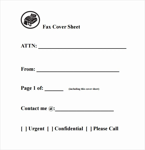Sample Fax Cover Sheets Template Inspirational 8 Basic Fax Cover Sheet Samples