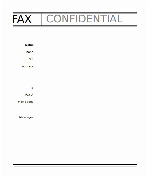 Sample Fax Cover Sheets Template Unique 9 Professional Fax Cover Sheet Templates Free Sample