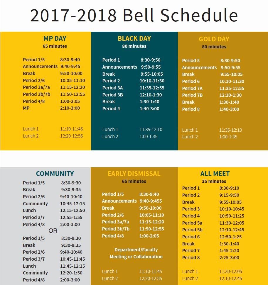 Sample High School Class Schedule Beautiful Bell Schedule Bishop O Dowd High School