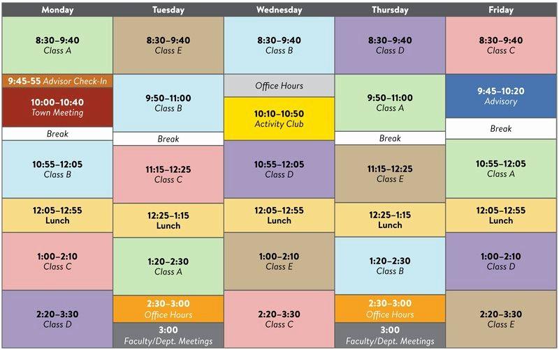 Sample High School Class Schedule Elegant Sample Schedule Middle School