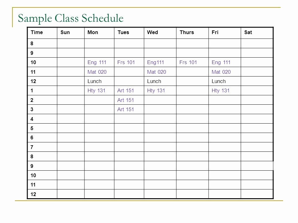 Sample High School Class Schedule Inspirational What is the Difference Between High School and College