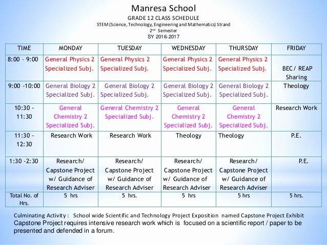 Sample High School Class Schedule New Gr 10 Parents orientation On Senior High Program